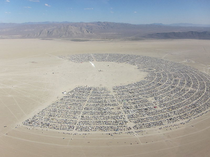 5-Black Rock City_aerial_CC BY 2.0 Kyle Harmon