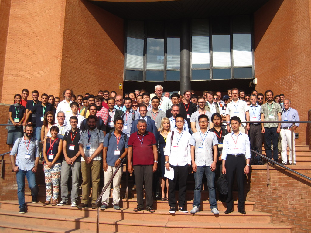 Figure 1 Group picture of the ICANN 2016 attendees at the BarcelonaTech building of the Universitat Politecnica de Catalunya (UPC).
