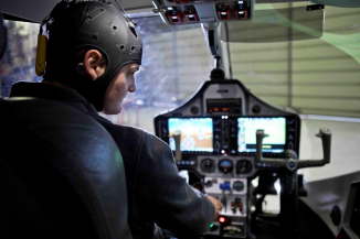 EEG Pilot airplane