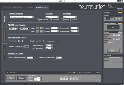 NeuroSurfer settings.